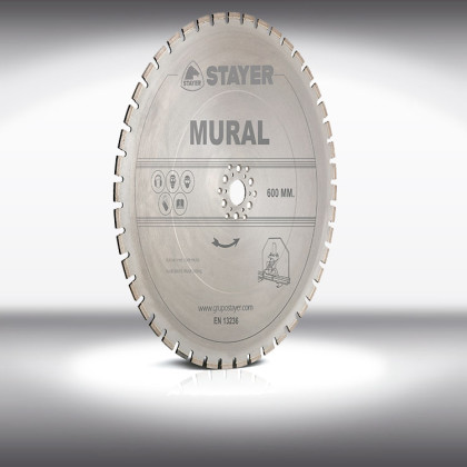 Industrial Line Mural (Wall cutting) - Discs